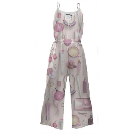 Pink Vanity Table Jumpsuit