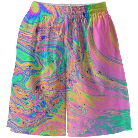 PAOM, Print All Over Me, digital print, design, fashion, style, collaboration, paomcollabs, Basketball Shorts, Basketball-Shorts, BasketballShorts, Pastel, Marble, spring summer, unisex, Poly, Bottoms