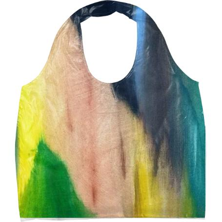 Natural Abstract Painted Tote