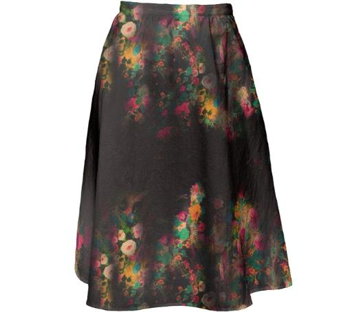 TRACY PORTER PEACOCK MIDI SKIRT