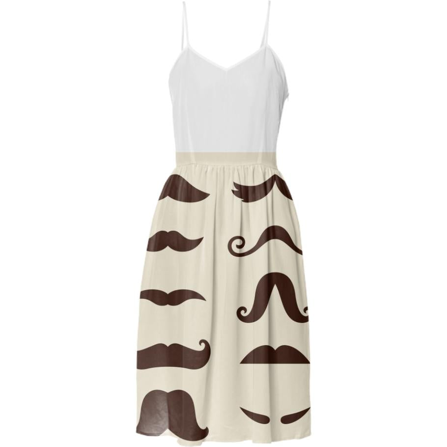 Designers vintage Dress with mustaches