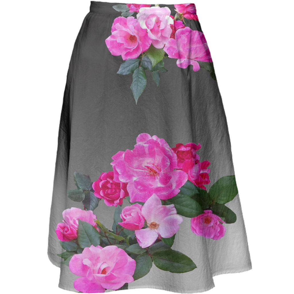Roses for Days Ombre Midi Skirt