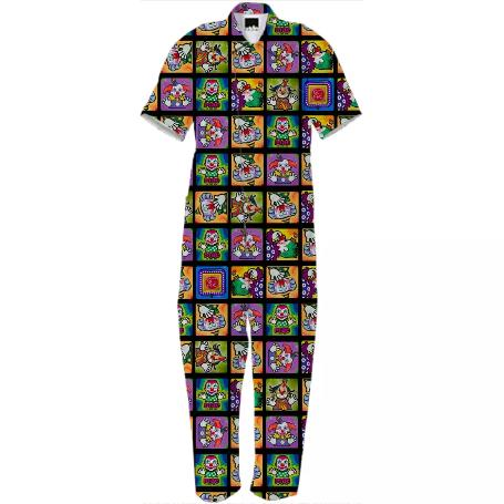 PAOM, Print All Over Me, digital print, design, fashion, style, collaboration, geoffrey-mac, geoffrey mac, Jumpsuit, Jumpsuit, Jumpsuit, Clown, Cube, autumn winter spring summer, unisex, Cotton, One Piece
