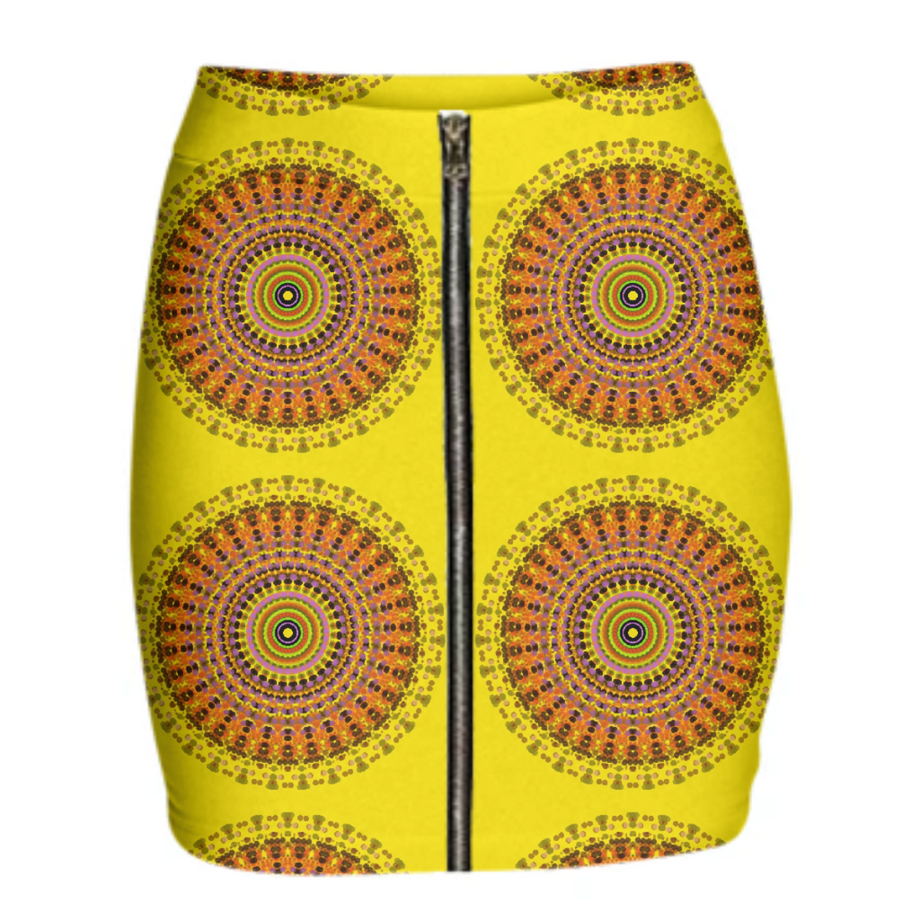 SKIRT YELLOW SPIRALS