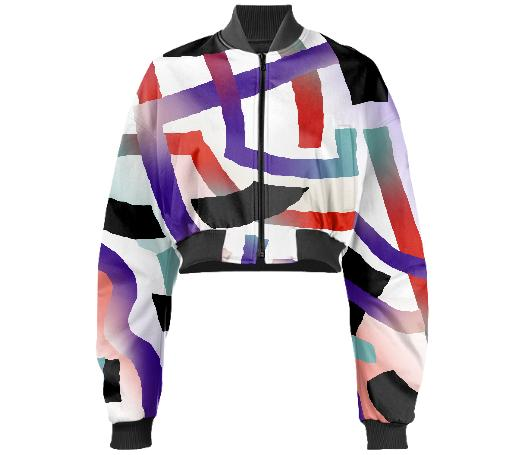PAOM, Print All Over Me, digital print, design, fashion, style, collaboration, gambette, Gabriel Held Cropped Bomber Jacket, Gabriel-Held-Cropped-Bomber-Jacket, GabrielHeldCroppedBomberJacket, Bolide, Neoprene, autumn winter, unisex, Neoprene, Outerwear