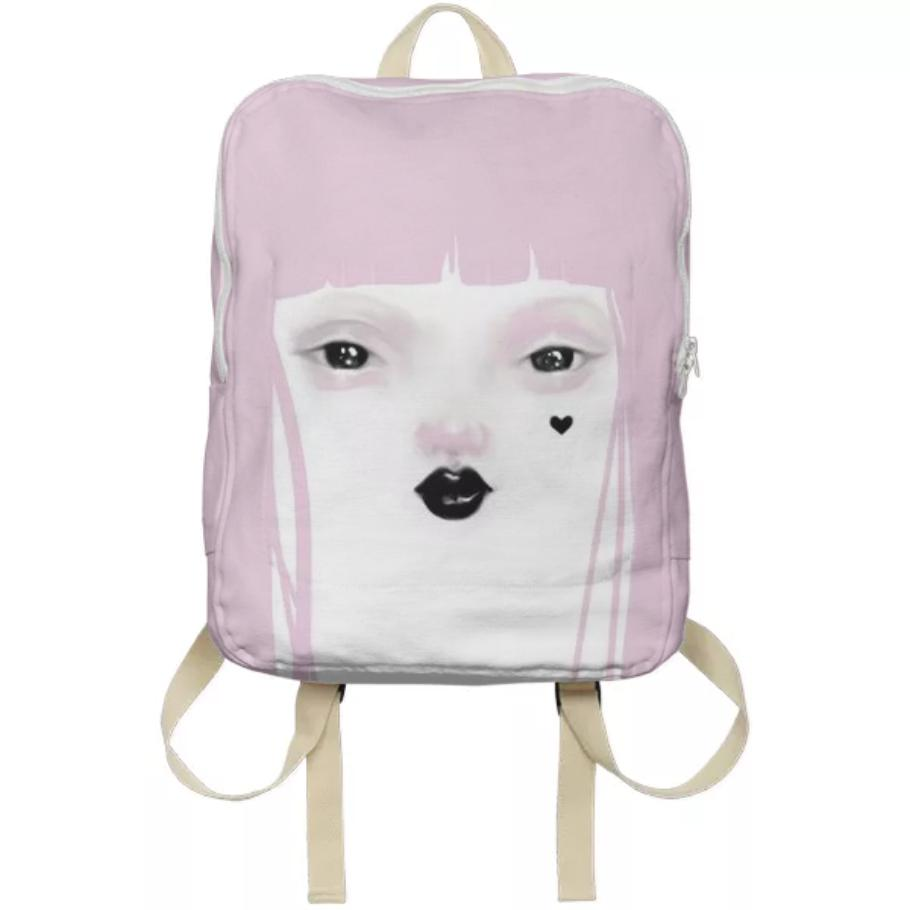 PAOM, Print All Over Me, digital print, design, fashion, style, collaboration, pidgin-doll, pidgin doll, Backpack, Backpack, Backpack, Pidgin, Pink, autumn winter spring summer, unisex, Poly, Bags