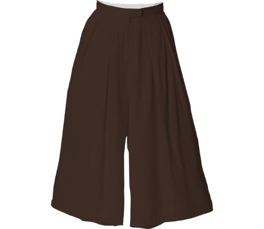 Chocolate Brown Culotte Pants