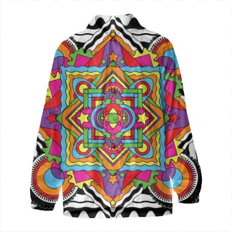 PAOM, Print All Over Me, digital print, design, fashion, style, collaboration, paomcollabs, Coach Jacket, Coach-Jacket, CoachJacket, Mandala, autumn winter, unisex, Nylon, Outerwear