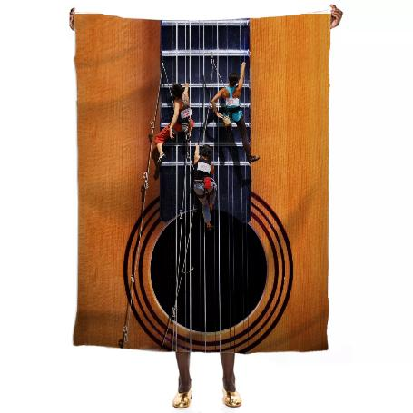 Surreal Guitar Climbers VP Silk Scarf