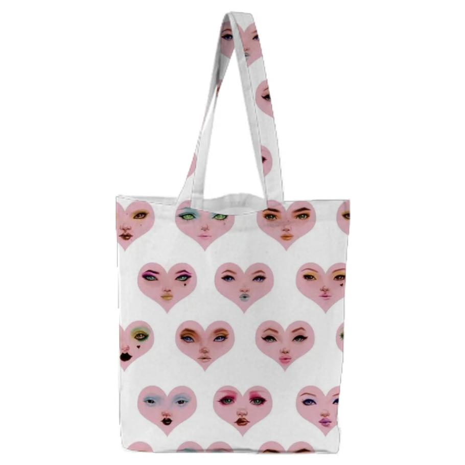 PAOM, Print All Over Me, digital print, design, fashion, style, collaboration, pidgin-doll, pidgin doll, Tote Bag, Tote-Bag, ToteBag, Eclipse, the, Heart, autumn winter spring summer, unisex, Poly, Bags