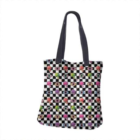 PAOM, Print All Over Me, digital print, design, fashion, style, collaboration, paomcollabs, Neoprene Tote Bag, Neoprene-Tote-Bag, NeopreneToteBag, Checkered, Shroom, autumn winter spring summer, unisex, Neoprene, Bags