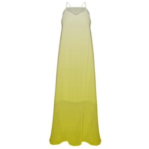 LIGHT YELLOW CHIFFON MAXI DRESS