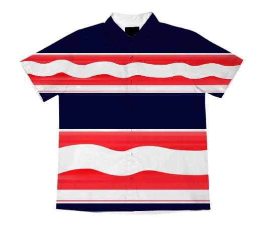 Navy Blue Red And White