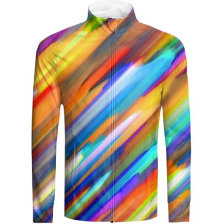 Colorful digital art splashing G391 TRACKSUIT JACKET