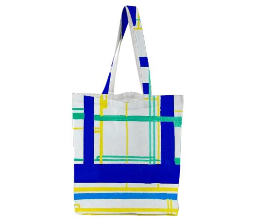 Aqua Circuits Tote Bag