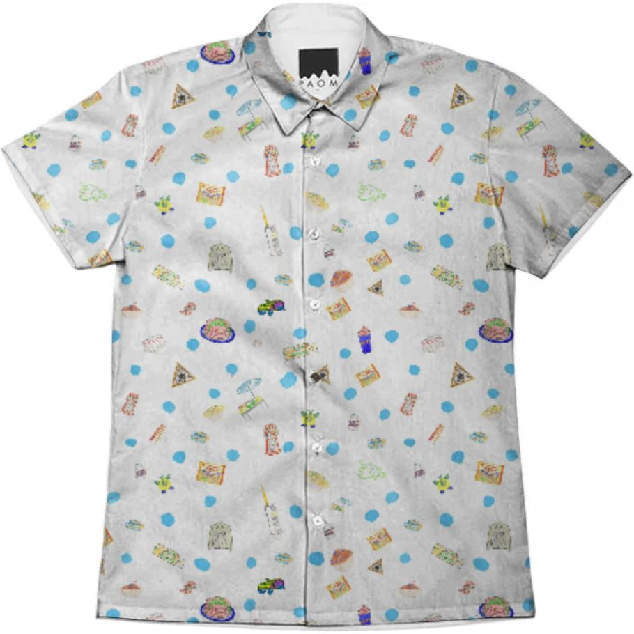 PAOM, Print All Over Me, digital print, design, fashion, style, collaboration, theselby, Short Sleeve Workshirt, Short-Sleeve-Workshirt, ShortSleeveWorkshirt, Selby, Wallpaper, Button, Down, spring summer, unisex, Cotton, Tops