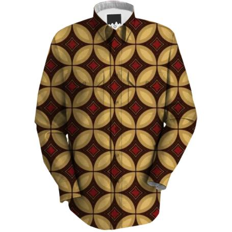 Red and Gold Diamond Workshirt