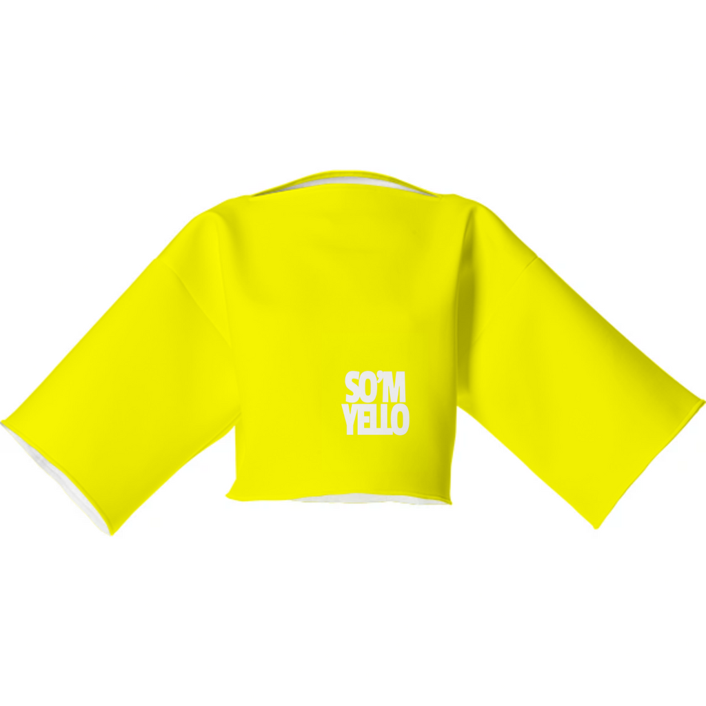 SO'M YELLO Canary Edition | Neoprene Box-Fit Wide-Short Sleeved Block Top
