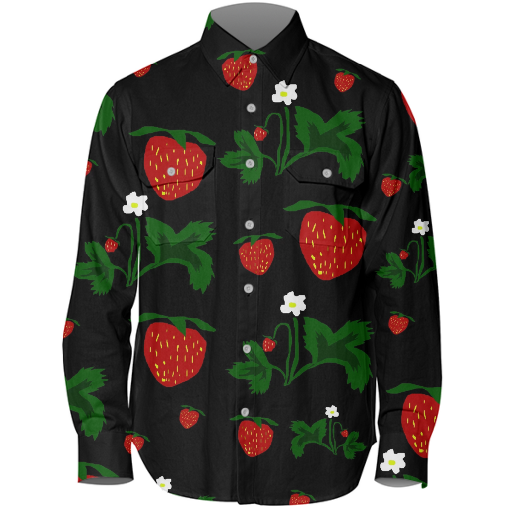 Wild Strawberries Work Shirt