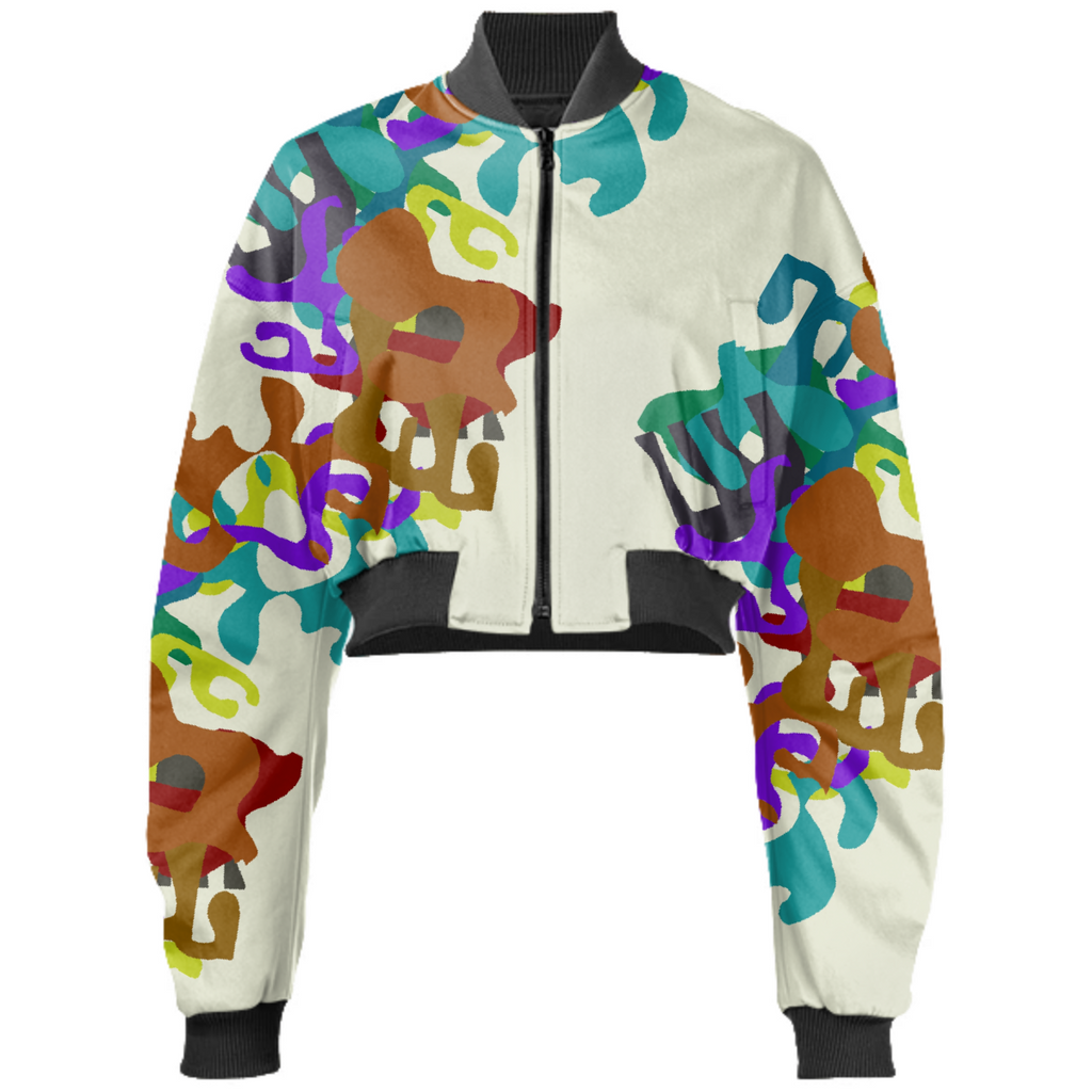 Abstract Shapes Bomber Jacket