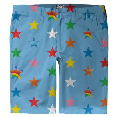 lt blue star short