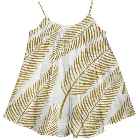 Golden Palm Kids Tent Dress