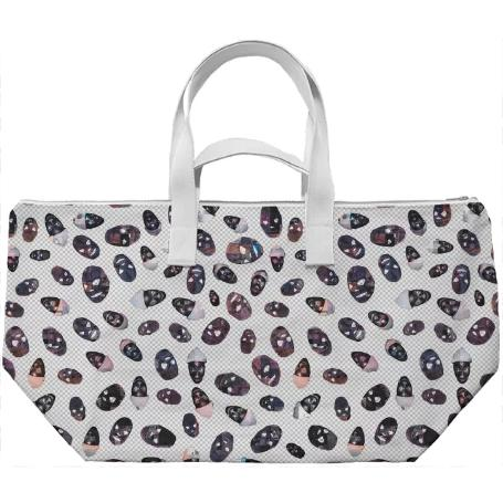 PAOM, Print All Over Me, digital print, design, fashion, style, collaboration, zebrakatz, Weekend Bag, Weekend-Bag, WeekendBag, Masks, autumn winter spring summer, unisex, Poly, Bags