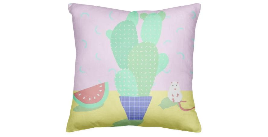 Cactus Rat Pillow