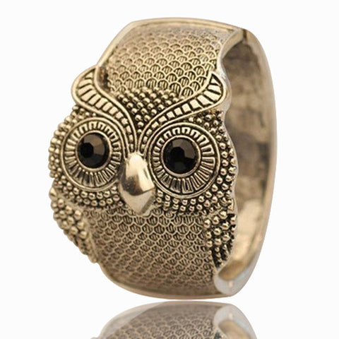 Antique Bronze/Silver Plated Owl Bracelet