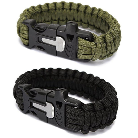 Outdoor Multi Functional Survival Wristband