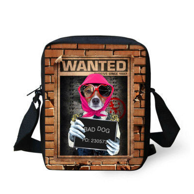 Fashion Messenger Bag Various Dog Designs