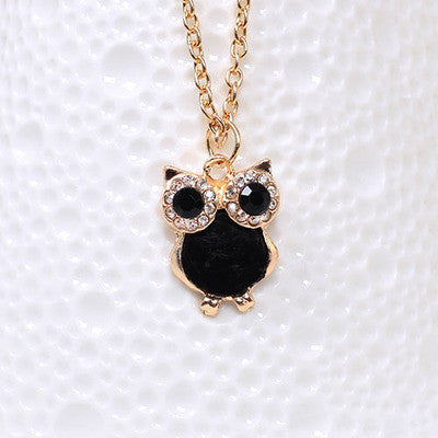 FREE Vintage Retro Shell Owl Necklace