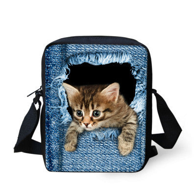 Fashion Messenger Bag Various Cat Designs