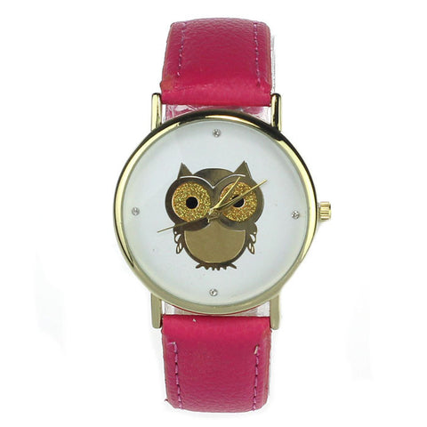 7 Colors Owl Style Dress Gold Watch