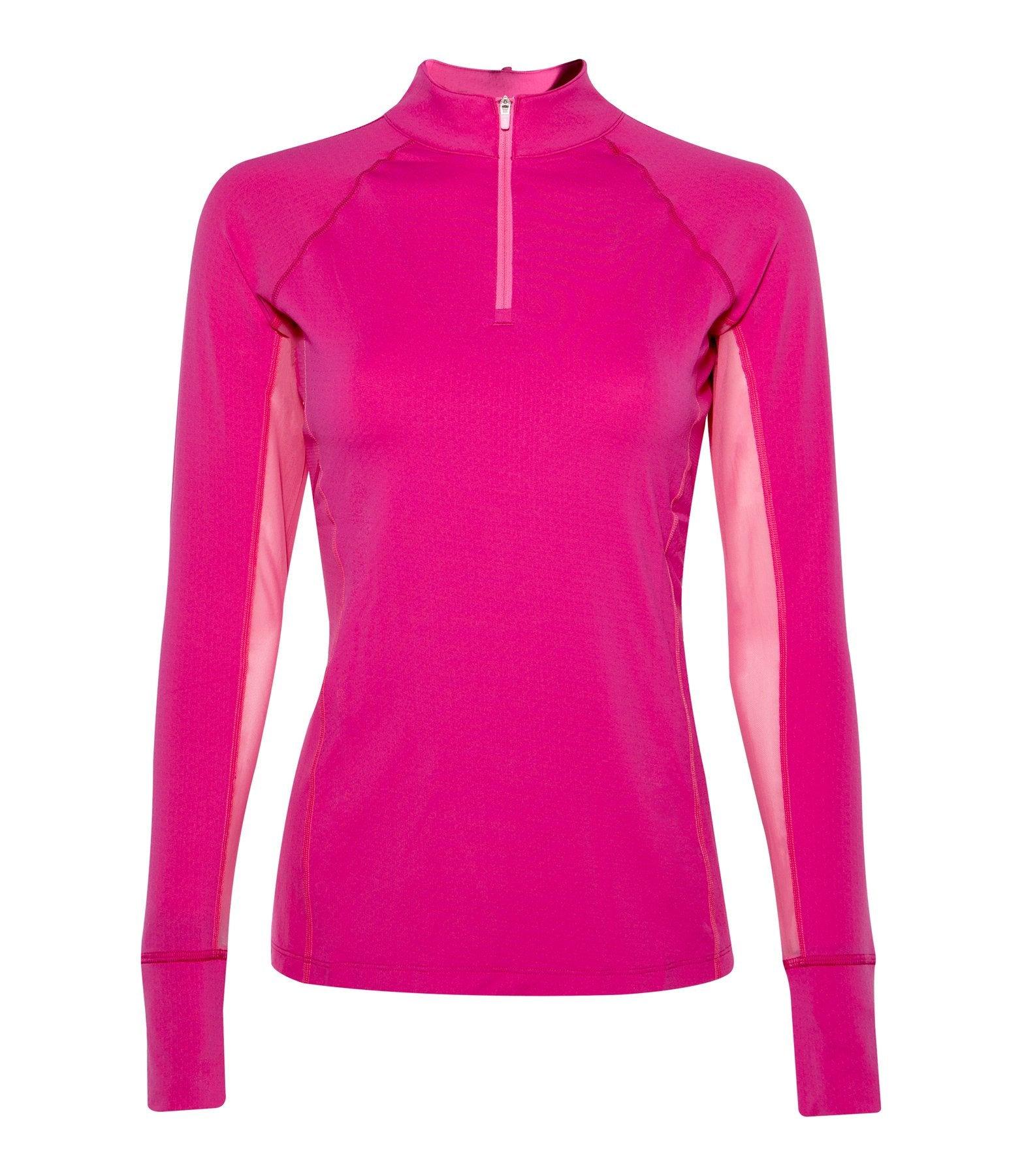 Noble Outfitters Ashley Long Sleeve Performance Shirt (Dragon Fruit/ Pink)