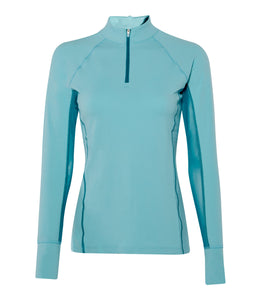 Noble Outfitters Ashley Long Sleeve Performance Shirt (Antigua/ Sea Blue)