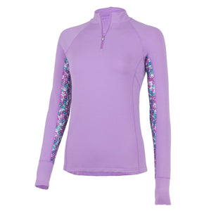 Noble Outfitters Ashley Long Sleeve Performance Shirt (Hyacinth/ Floral)