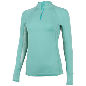 Noble Outfitters Ashley Long Sleeve Performance Shirt (Mint/ Lace)