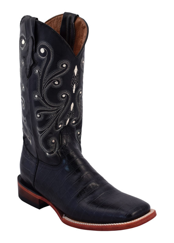 Ferrini Ladies Black Gator Belly Boots