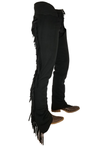 Premium Black Ultrasuede Chaps W/ Stretch Panel