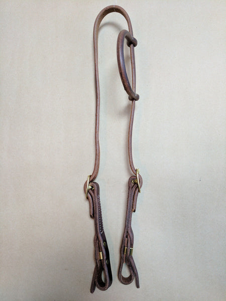 HARNESS LEATHER QUICK CHANGE SLIDE HEADSTALL
