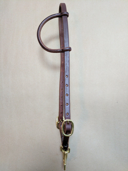 HARNESS LEATHER QUICK CHANGE SNAP HEADSTALL