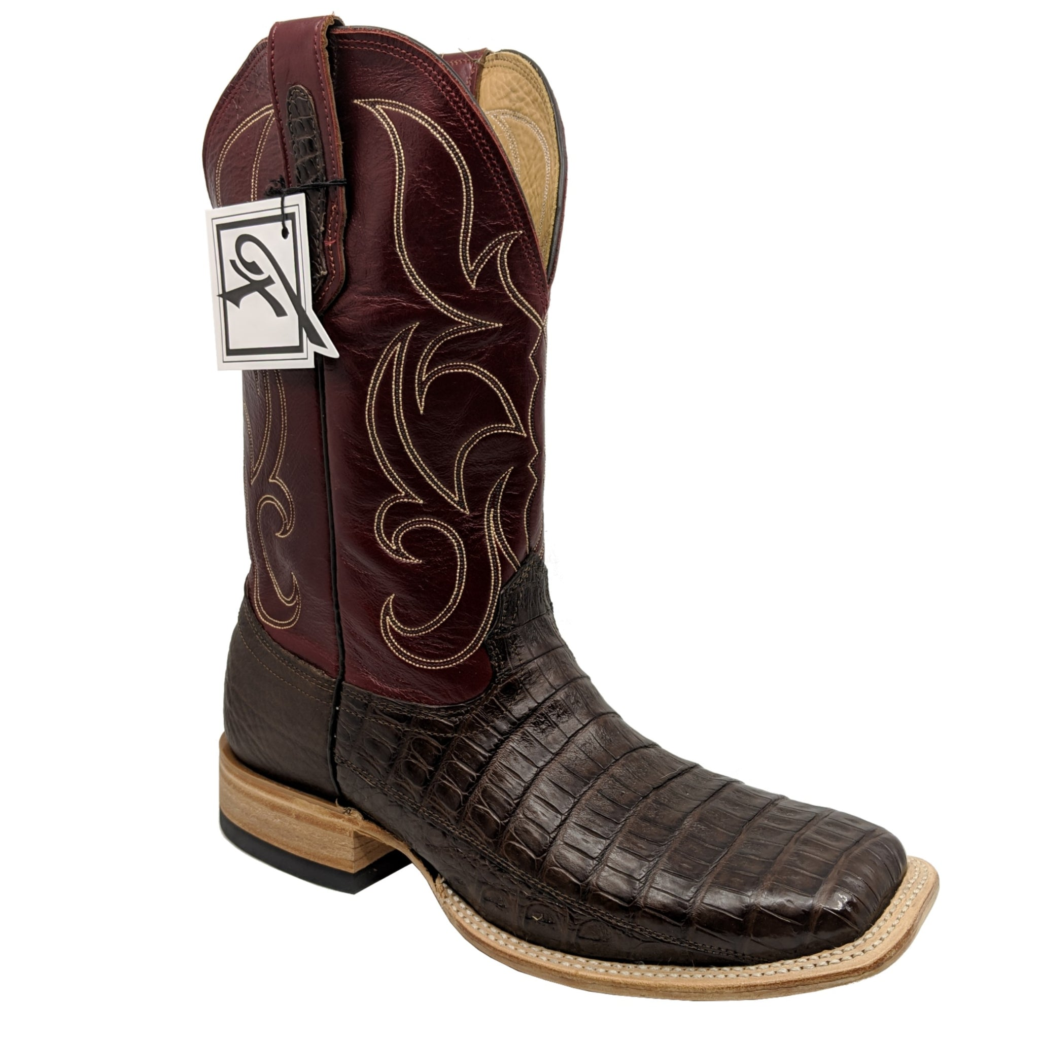 Fenoglio Chocolate Caiman Belly Boots