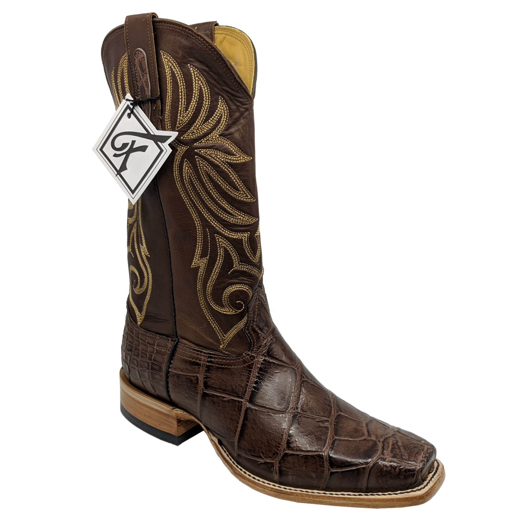 Fenoglio Chocolate American Alligator Boots