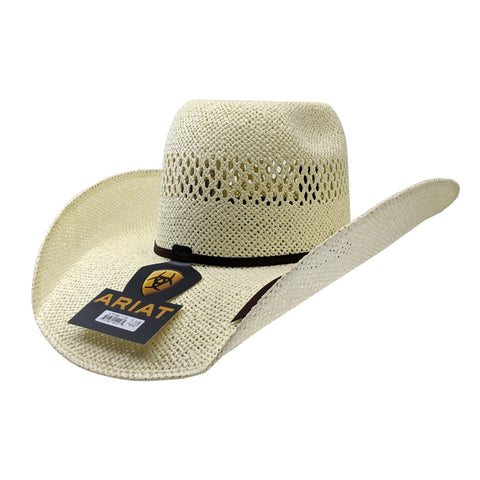 "Ariat Twisted Weave Straw Cowboy Hat (4 1/2"" Brim)"