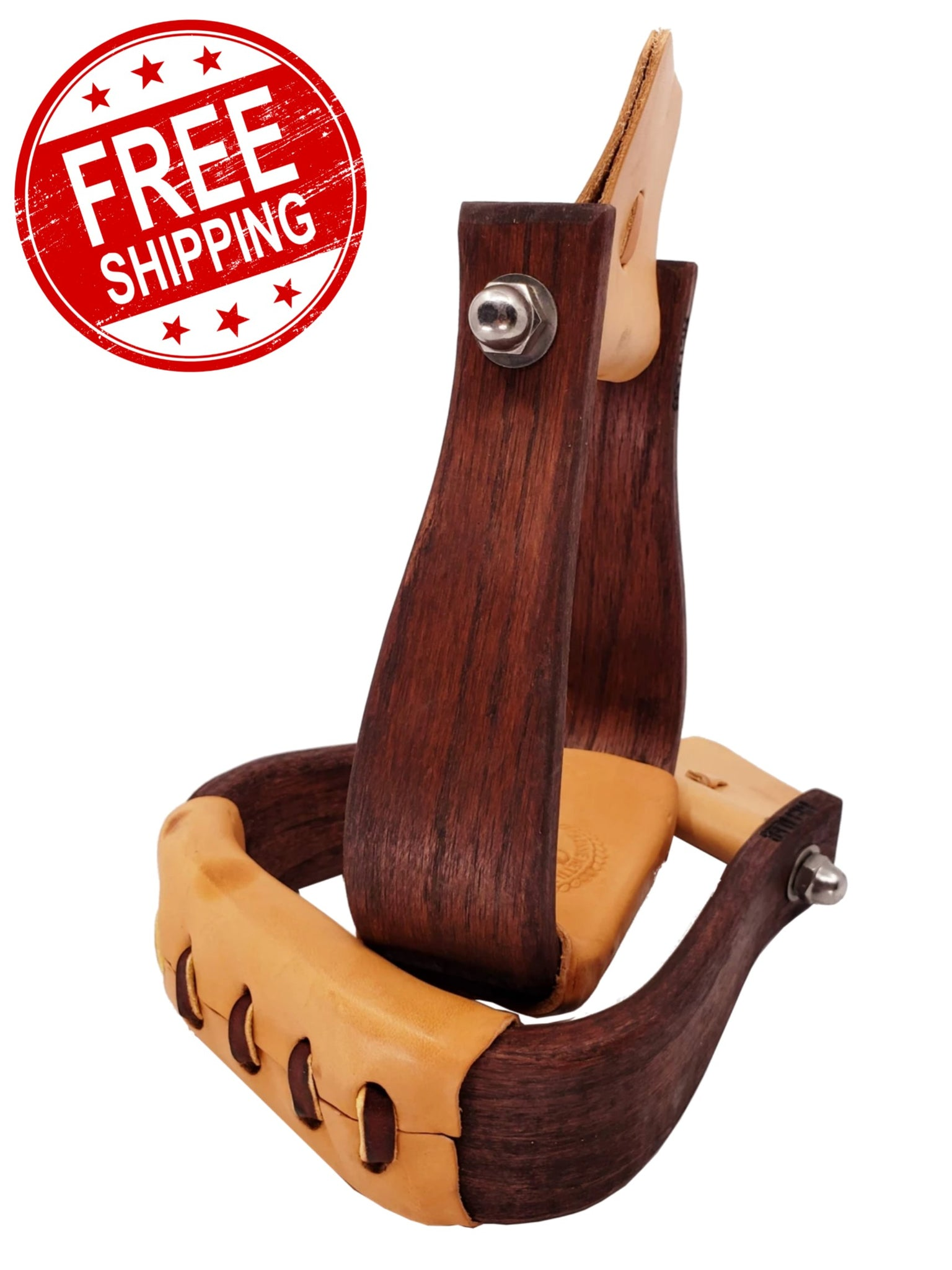 "Nettles ""The Duke"" 2"" All Purpose Wood Stirrups"