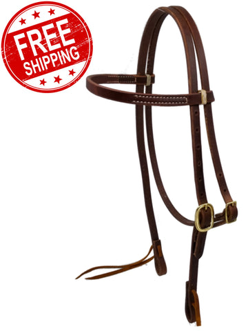 Cowperson Tack Sliding Browband Headstall