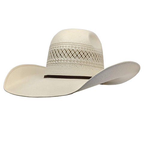 "Twister 10X Natural Shantung Straw Hat ( 4 1/2"" Brim)"
