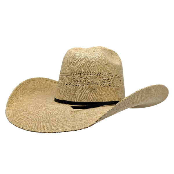 "Rodeo King Burlap Bangora Straw Hat ( 4 1/2"" Brim)"