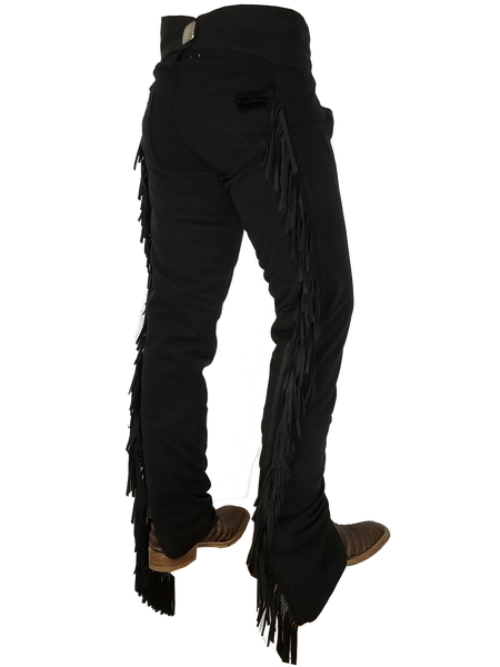 Black Ultrasuede Chaps W/ Stretch Panel